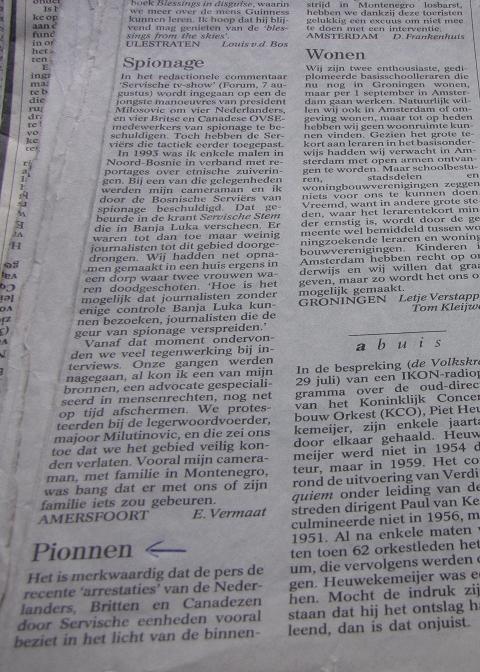 Slobodan Milosevic' buitenlandse politiek