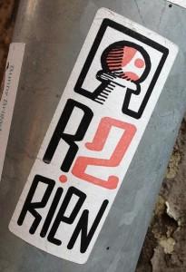 sticker R2 rien Amsterdam Centrum 2013 pion