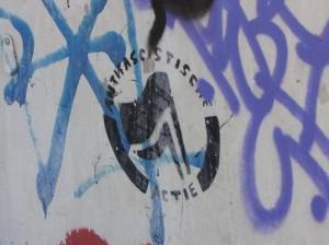 Dutch anti-facist graffiti