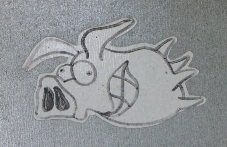 sticker 'vliegend zwijn'