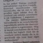 ~ Volkskrant 12/8/2004 ~