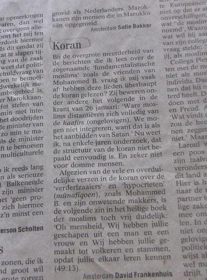 'Koran', Volkskrant, 2005, 29 januari