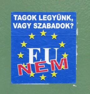 Sticker anti EU Europese Unie Boedapest EU nem