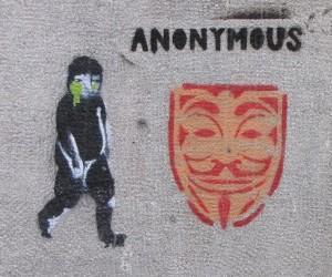 graffiti Guy Fawkes Anonymous Budapest