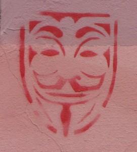 graffiti Guy Fawkes Budapest