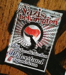 sticker AFA 'nazis bekämpfen'