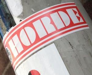 sticker Wilde horde Amsterdam 2013