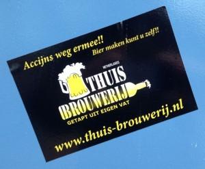 sticker accijns weg ermee Amsterdam south-east 2013 january thuis brouwerij