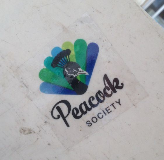 sticker Peacock Society Amsterdam Center November 2014 bird pauw
