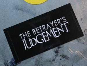 sticker the betrayer's judgement Amsterdam center January 2014