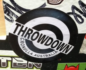 sticker throwdown Cronulla Australia Amsterdam 2013