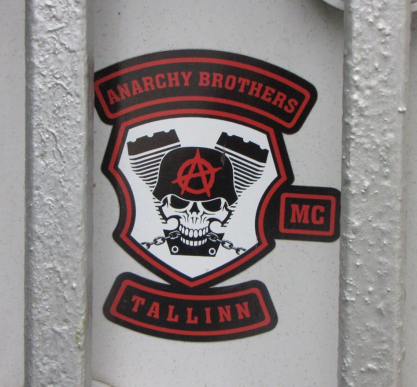 sticker Anarchy brothers MC Tallinn Estonia