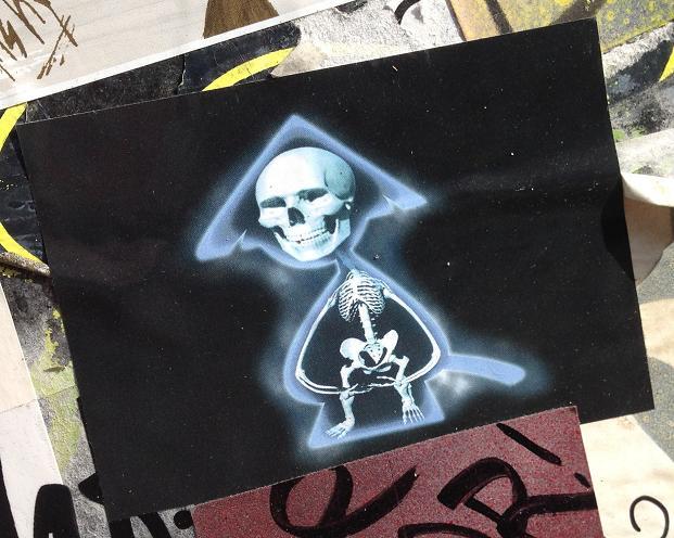 sticker 10-Gu samurai skeleton sword Amsterdam center 2013 September samoerai