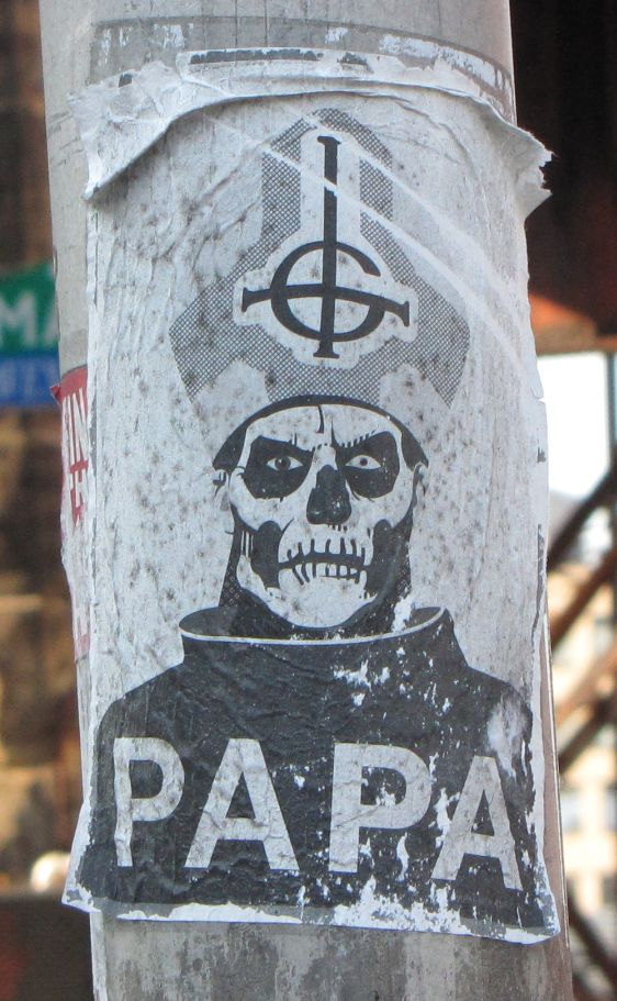 sticker Papa Satan Pope Philadelphia 2014 July religion