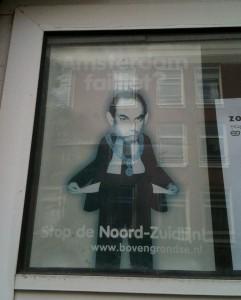 poster 'stop de NoordZuidlijn', Amsterdam