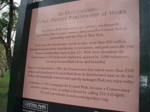 public private ownership Central Park
