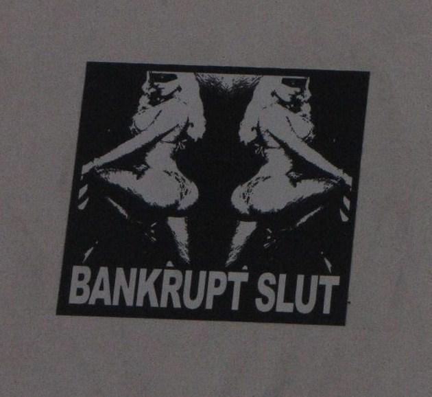 bankrupt slut sticker Sunset Boulevard LA