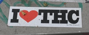 i love THC sticker by the crew