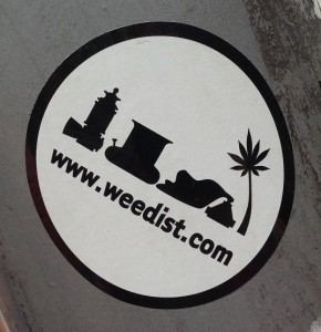 sticker Weedist.com Amsterdam 2013