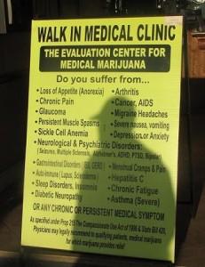 ~ walk in clinic medical marijuana 'list long' ~