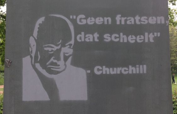 graffiti geen fratsen Churchill Amsterdam North 2014 April