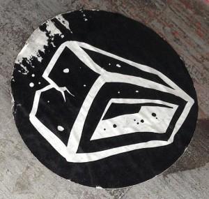 sticker baksteen Utrecht 2013 brick