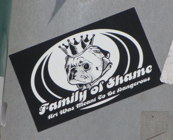 sticker Family of shame art dangerous Philadelphia 2014 July dog crown