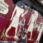 graffiti Egytische god mobieltje Amsterdam