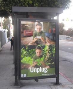 'Unplug' poster, Venice Beach