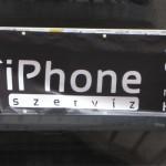 reclame i-phone service Boedapest