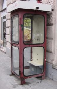 telefooncel zonder hoorn, Boedapest 2013