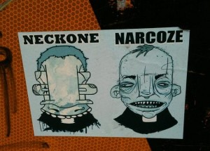 sticker Narcoze Neckone collab Amsterdam
