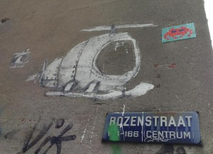 graffiti helicopters Amsterdam Rozenstraat