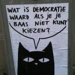 poster wat is democratie waard als je je baas niet kan kiezen