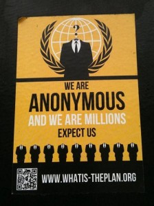 sticker We are Anonymous and we are millions