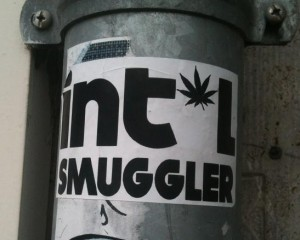 sticker 'intel smuggler' -Amsterdam