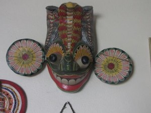 weird mask from India devil