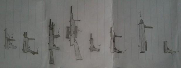 'gun drawings by a high-school student', Amsterdam