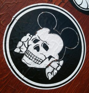 sticker Mickey Mouse skull Amsterdam 2012 schedel