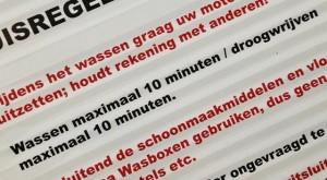 tekst auto wassen drogen Amsterdam