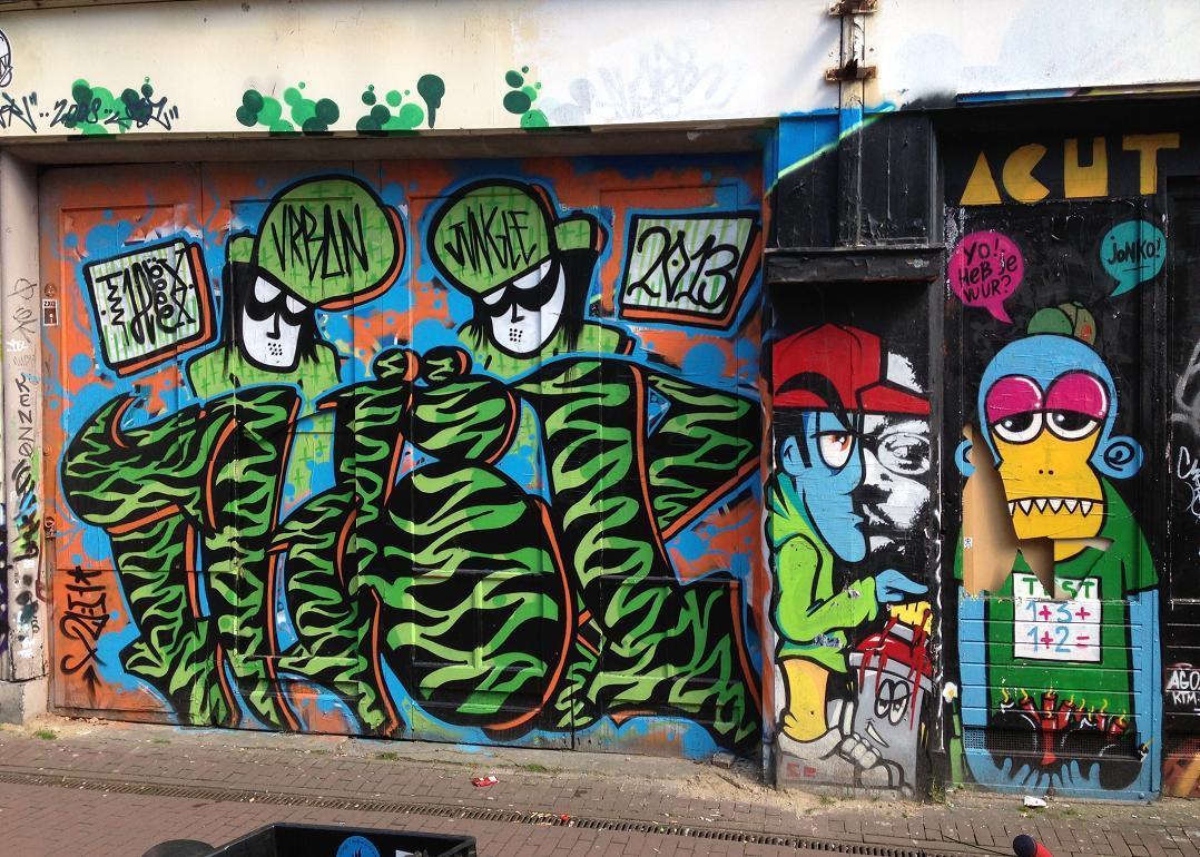 graffiti Spui Urban Jungle Amsterdam