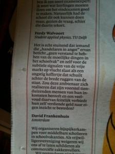 (ingezonden reactie Ton van Haperen bijles Nrc Next 2011)