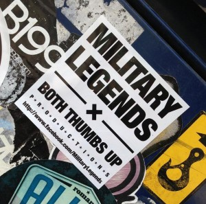 sticker military legends Amsterdam Spui