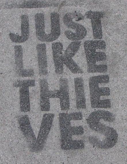 just like thieves graffiti Los Angeles 2011