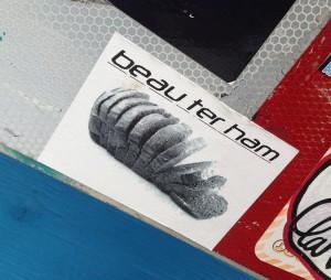sticker Beau ter Ham Amsterdam 2013