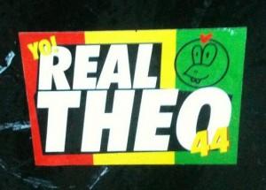 sticker 'yo real Theo 44' Amsterdam