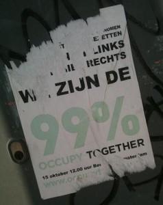 poster: 'wij zijn de 99 procent' Occupy