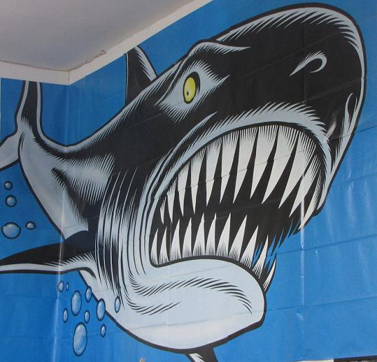 shark poster Meltdown comics Los Angeles