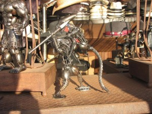 Predator vs Alien metal dolls Venice Beach