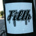sticker 'filth', Amsterdam